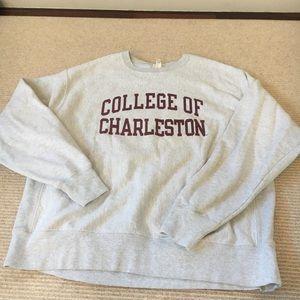 college of charleston pullover jacket/sweatshirt